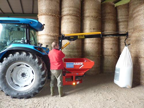 Tractor Lift Arm Extension : Fertiliser hoist rossmore